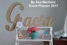 Trabajos de nuestra egresada Ana Martínez Event Planner