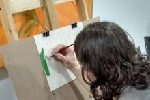 Taller de Acrílico, iniciación teoría del color: Ejercicio basado en Kandinsky