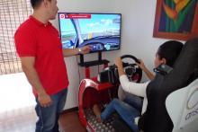 Simulador de conducción carro