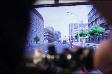 Simulador de conducción motocicleta