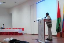 CORPOTEC, en representación de la Universidad del Tolima, fue invitada a 1° FORO de periodismo que se desarrolló el día 19/09/2012 en el auditorio de la tríada. El Vicerrector de la Corporación Dr. Guillermo Guarín hace la intervención sobre la importancia del periodismo en el Casanare.